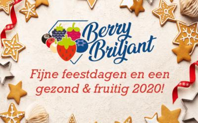 Fijne feestdagen en een gezond & fruitig 2020!